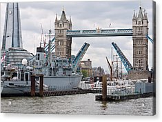 Tower Bridge Opens Acrylic Print