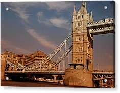 Tower Bridge Sunset Acrylic Print by Jonah  Anderson
