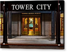 Tower City Cleveland Ohio Acrylic Print by Frozen in Time Fine Art Photography
