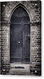 Tower Door Acrylic Print by Heather Applegate