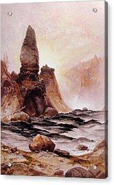 Tower Falls At Yellowstone Acrylic Print by Thomas Moran