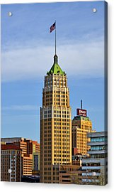 Tower Life Building San Antonio Tx Acrylic Print by Christine Till