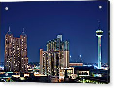 Tower Of America In San Antonio Texas City  Aerial Acrylic Print
