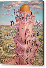 Tower Of Babbit Acrylic Print by Henry Potwin