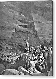 Tower Of Babel Bible Illustration Acrylic Print by
