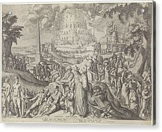 Tower Of Babel, Zacharias Dolendo, Jacob De Gheyn II Acrylic Print