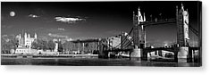 Tower Of London And Tower Bridge Acrylic Print