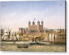 Tower Of London, 1862 Acrylic Print by Achille-Louis Martinet