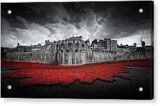 Tower Of London Remembers Acrylic Print by Ian Hufton