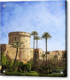 Tower Of Mohamed Ali Citadel In Cairo Acrylic Print by Mohamed Elkhamisy