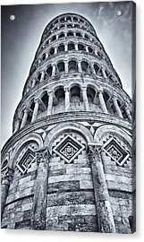 Tower Of Pisa Acrylic Print by Kim Andelkovic