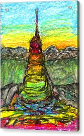 Tower Of The Spirit Acrylic Print by Yuri Lushnichenko