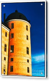 Tower Of Uppsala Castle - Sweden Acrylic Print by David Hill