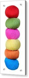 Tower Of Yarn Acrylic Print