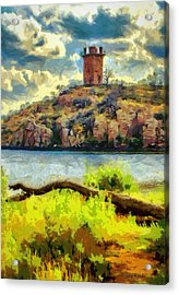 Tower On The Bluff Acrylic Print by Jeff Kolker
