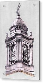 Tower Over City Hall New York City Acrylic Print by Gerald Blaikie
