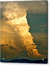Tower Over Truchas Acrylic Print by Kim Pippinger