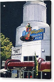 Tower Records Acrylic Print by Paul Guyer