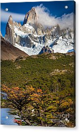 Towering Fitz Roy Acrylic Print by Inge Johnsson