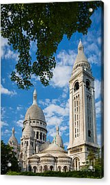 Towering Sacre-coeur Acrylic Print by Inge Johnsson