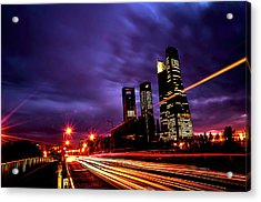 Towers And Skyscrapers Of Madrid Acrylic Print by Ddanni Hr