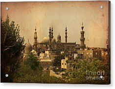 Towers Of Muslims Mosque In Cairo Acrylic Print by Mohamed Elkhamisy
