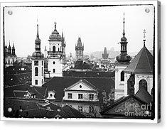 Towers Of Prague Acrylic Print by John Rizzuto