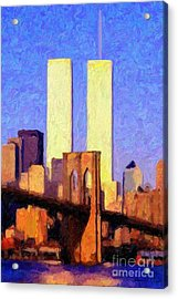 Acrylic Print featuring the photograph Towers Sunset  by Adam Olsen