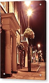 Town At Night Acrylic Print by Tom Gowanlock
