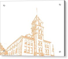 Acrylic Print featuring the photograph Town Hall Lancaster Ny by Jim Lepard