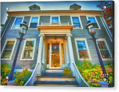 Town House Nantucket And Two Lamps 001 Acrylic Print