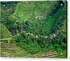 Town In Banaue Rice Terraces Acrylic Print