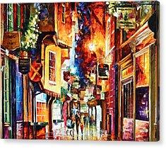 Town In England Acrylic Print by Leonid Afremov