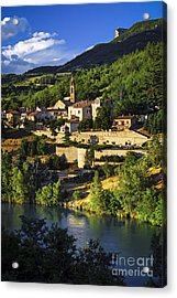 Town Of Sisteron In Provence Acrylic Print by Elena Elisseeva