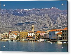 Town Of Vinjerac Waterfrot View Acrylic Print