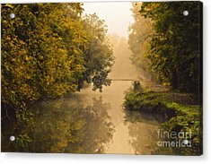Towpath On The Champlain Canal Acrylic Print by Julie Palyswiat