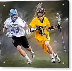 College Lacrosse 7 Acrylic Print by Scott Melby