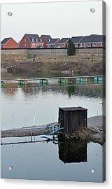 Toxic Waste Lagoon Near To Houses Acrylic Print