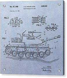 Toy Army Tank Patent Acrylic Print