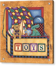 Toy Box Acrylic Print by Tracy Campbell