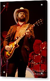 Toy Caldwell Of The Marshall Tucker Band At The Cow Palace Acrylic Print