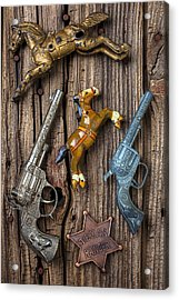Toy Guns And Horses Acrylic Print by Garry Gay