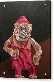 Toy Monkey With Cymbals Acrylic Print