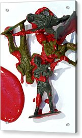 Toy Soldiers In A Pool Of Blood Acrylic Print by Amy Cicconi