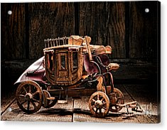 Toy Stagecoach Acrylic Print by Olivier Le Queinec