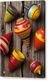 Toy Tops Acrylic Print by Garry Gay