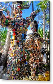 Toy Tree - 01  Acrylic Print by Gregory Dyer