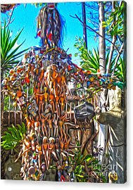 Toy Tree - 04 Acrylic Print by Gregory Dyer