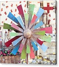 Toy Windmill Acrylic Print by Tom Gowanlock