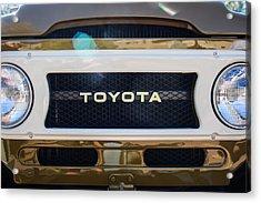 Toyota Land Cruiser Grille Emblem  Acrylic Print